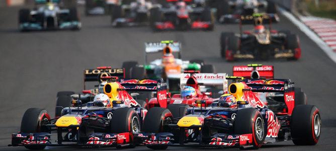 Los pilotos de Red Bull realizaron más adelantamientos que nadie en 2012