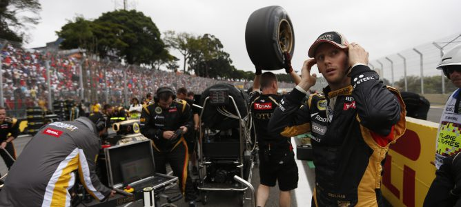 Romain Grosjean en Brasil