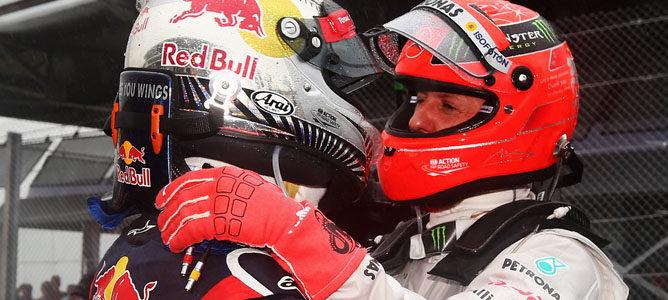 Michael Schumacher no cree que se deba comparar sus logros con los de Sebastian Vettel