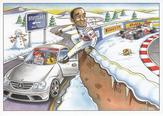 Bernie Ecclestone se acuerda de Lewis Hamilton en su postal navideña