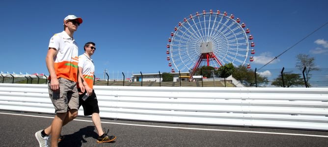 Nico Hülkenberg pasea por el circuito