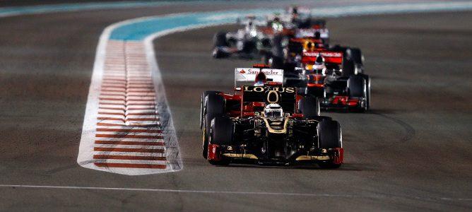 Kimi Räikkönen en Abu Dabi