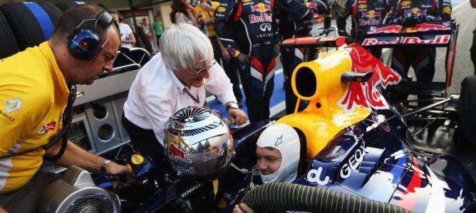 Bernie Ecclestone y Sebastian Vettel
