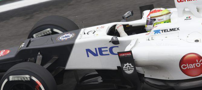 Sergio Pérez con el C31