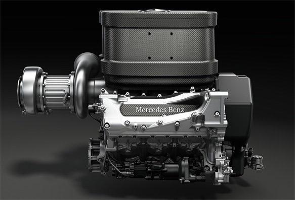 Mercedes desvela el diseño de los nuevos motores de 2014