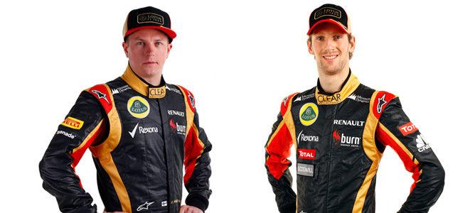 Kimi Räikkönen y Romain Grosjean, pilotos titulares de Lotus en 2013