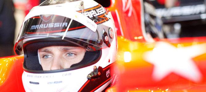 Max Chilton realiza el molde del asiento para la temporada 2013