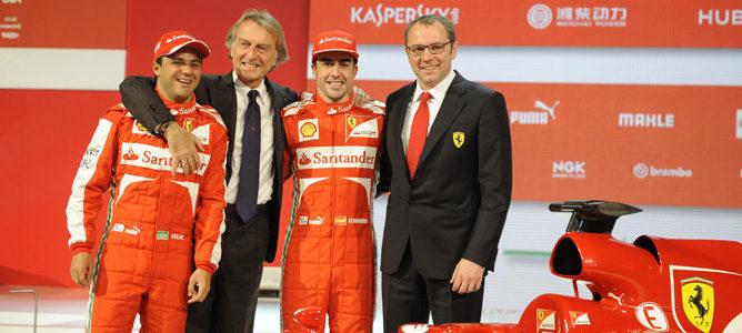Luca di Montezemolo tomó la palabra en la presentación del F138