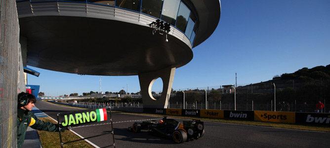 Alineación de pilotos participantes en los entrenamientos de pretemporada en Jerez