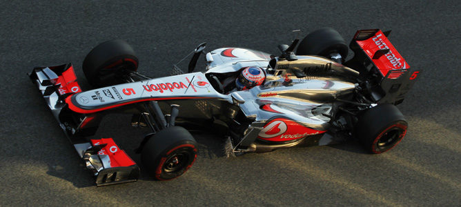 Jenson Button lideró la primera jornada de test en Jerez