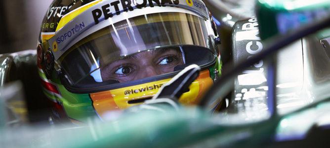 Lewis Hamilton sufrió un accidente en su primera jornada de test con Mercedes