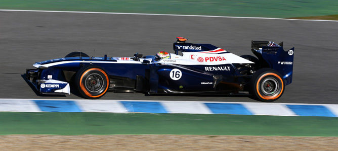 Pastor Maldonado se despide del FW34 en Jerez