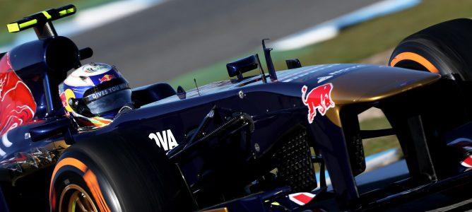 Daniel Ricciardo en la pretemporada de Jerez