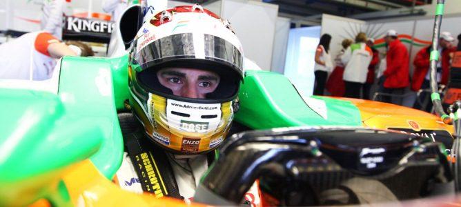 Adrian Sutil con el VJM04