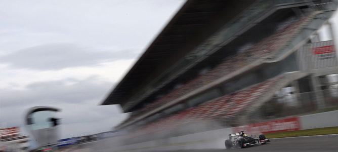 Esteban Gutiérrez en los test de Barcelona