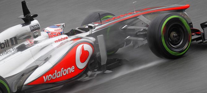 Jenson Button con McLaren en los test de pretemporada