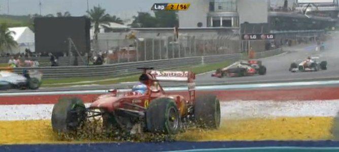 Alonso en la grava