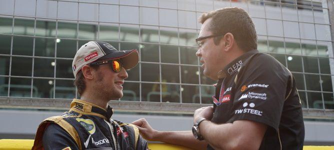 Eric Boullier y Romain Grosjean