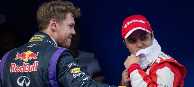 Massa y Vettel tras la clasificación del GP de Malasia