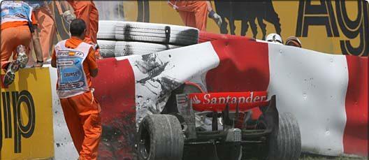 Explicaciones desde McLaren sobre el accidente de Kovalainen