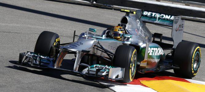 El equipo Mercedes habría completado un test privado con Pirelli en Barcelona