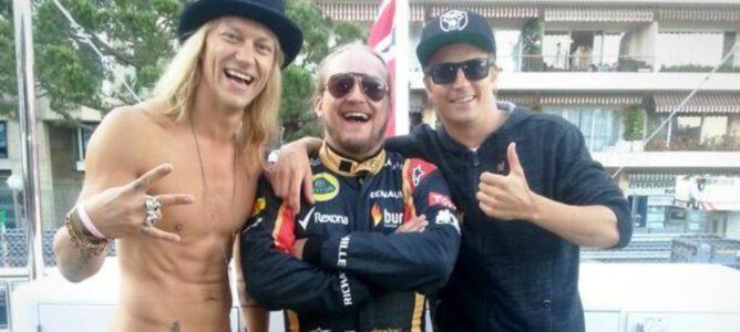 Kimi Räikkönen y los 'Dudesons' amenizaron una subasta en Mónaco