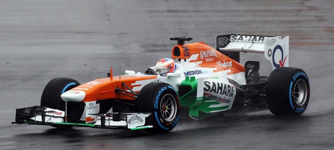 La lluvia desluce unos Libres 1 del GP de Canadá 2013 liderados por Paul di Resta