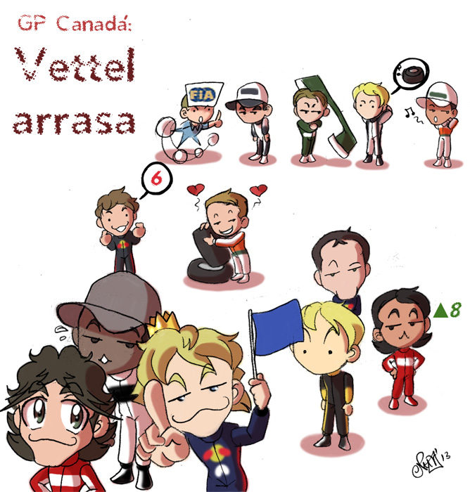 Los Chibis (112): Vettel arrasa