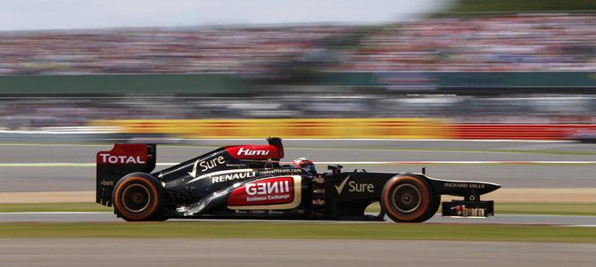 Kimi Räikkönen con Lotus en Silverstone