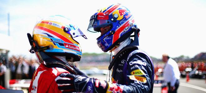 Fernando Alonso y Mark Webber subieron al podio en Silverstone