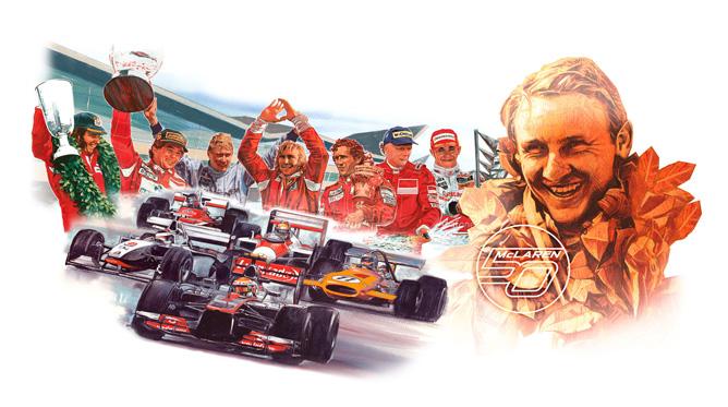 McLaren hace historia y celebra su 50º aniversario en la F1
