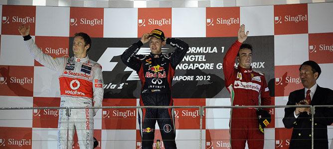 Sebastian Vettel gana el GP de Singapur 2012 F1