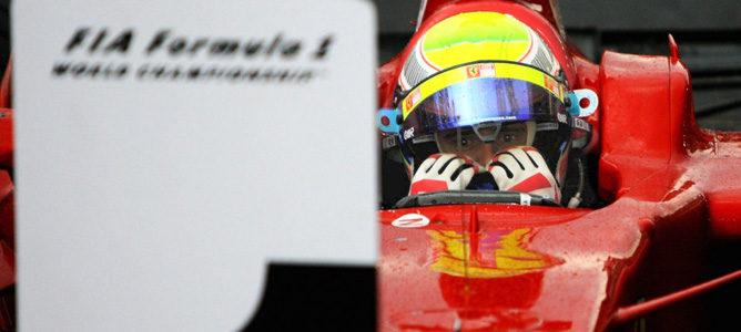 Felipe Massa llora tras quedarse a las puertas del título en Brasil 2008