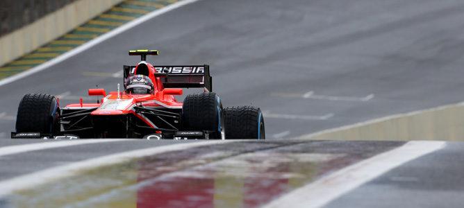 Rodolfo González con Marussia en los primeros libres de Interlagos
