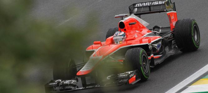 Jules Bianchi rueda con el Marussia en Interlagos