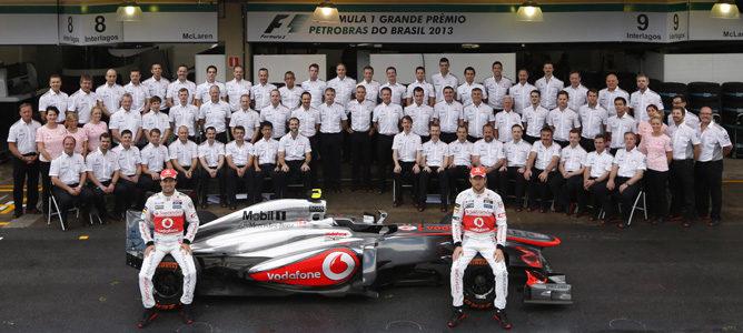 Foto de equipo de McLaren en Brasil 2013