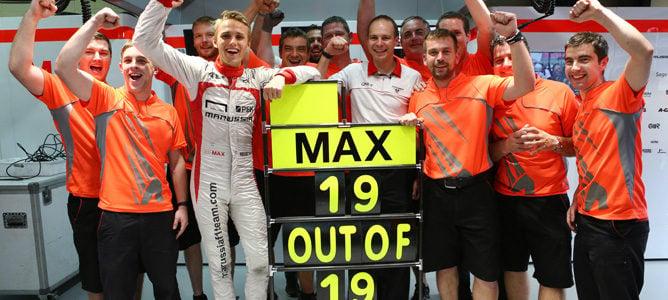 Marussia celebra las 19 carreras finalizadas consecutivamente de Max Chilton