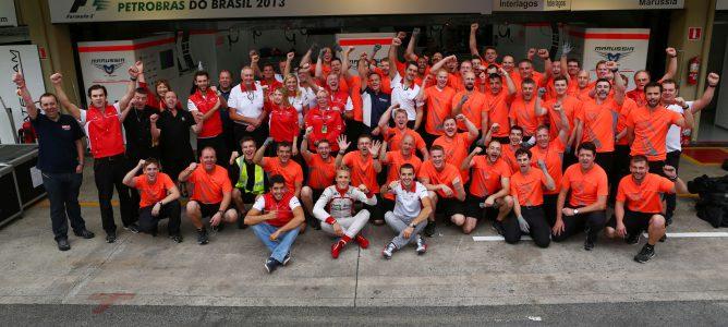 El equipo Marussia termina el año contento por la recompensa del 10º puesto