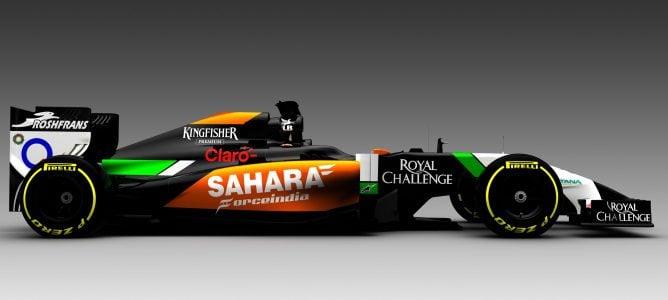 Force India revela los colores que lucirá el nuevo VJM07 en 2014