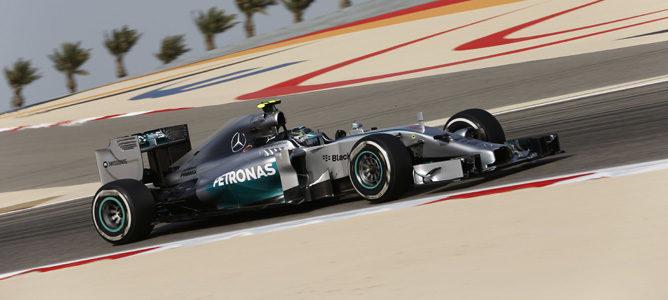 Nico Rosberg en los entrenamientos libres de Baréin con Mercedes