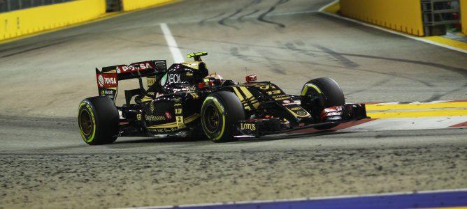 """Maldonado: """"El contacto con el McLaren ha sido pequeño, pero suficiente para romper mi difusor"""""""