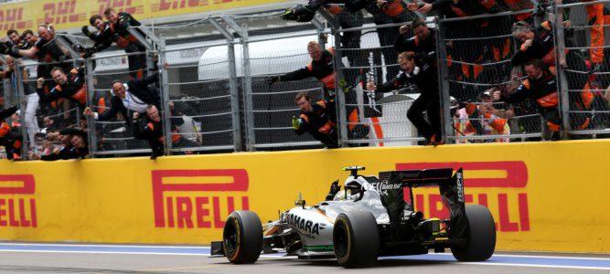 "Sergio Pérez: ""Estoy muy feliz por poder compartir este segundo podio con mi equipo"""