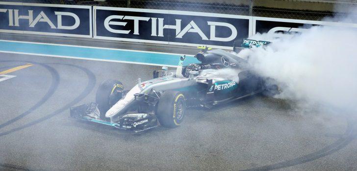 Nico Rosberg después de ganar el Campeonato