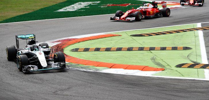 Rosberg y Vettel en el Gran Premio de Italia
