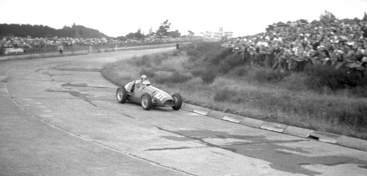 Alberto Ascari con el dorsal 101 en el GP Alemania 1952