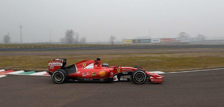Giovinazzi conduciendo el SF15-T