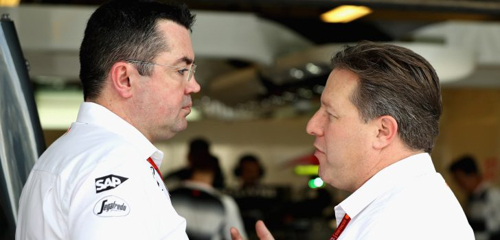 Eric Boullier y Zak Brown