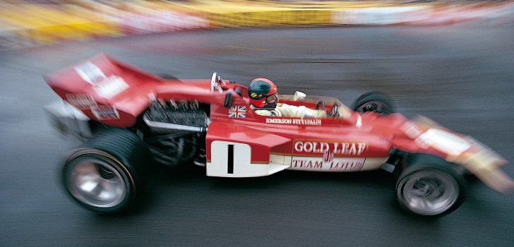Emerson Fittipaldi en el GP Mónaco 1971