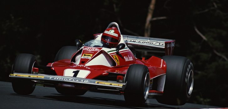 Niki Lauda en el GP Alemania de 1976