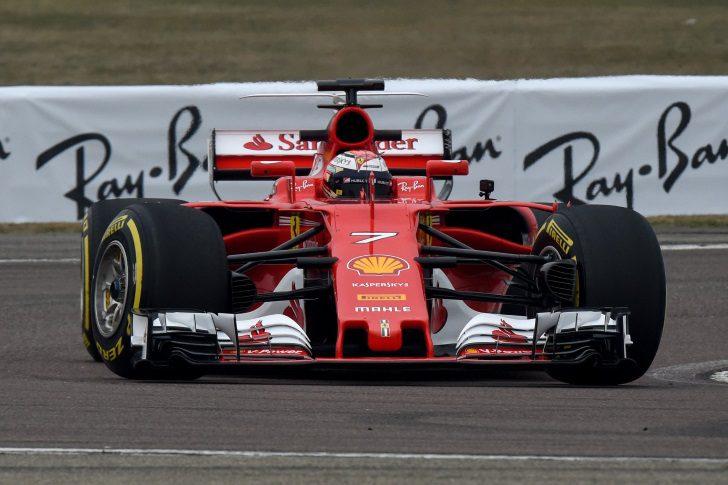Kimi Räikkönen conduce el SF70H en Fiorano